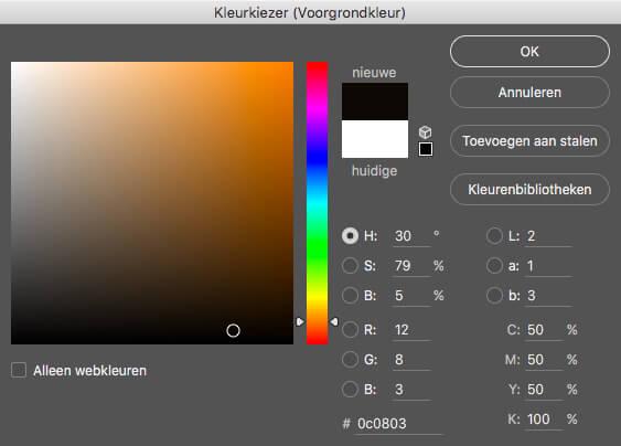 Kleurenkiezer kleur