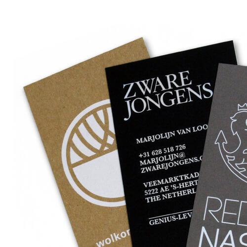 Visitekaartjes ontwerpen